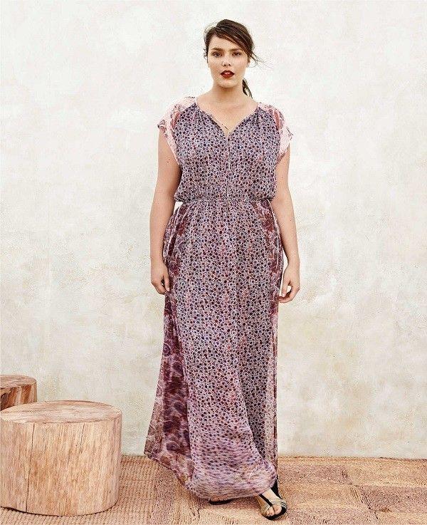 97b3340308 vestidos-para-gorditas-mango-violeta-estampados-flores-puntos ...