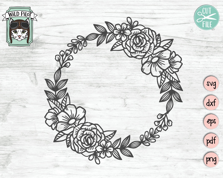 Floral monogram svg Floral cricut monogram frame svg