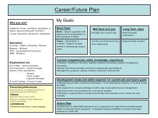 Career plan example pinterest career for How to write a career plan template