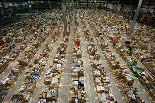 This Is What It Looks Like Inside The Amazon Warehouse Caveman