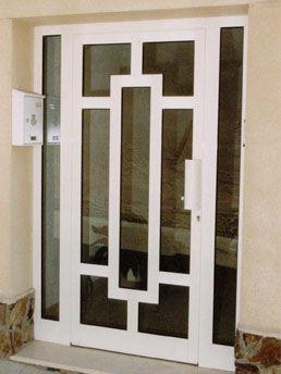 Puerta de entrada de aluminio y vidrio loft en for Puerta de aluminio