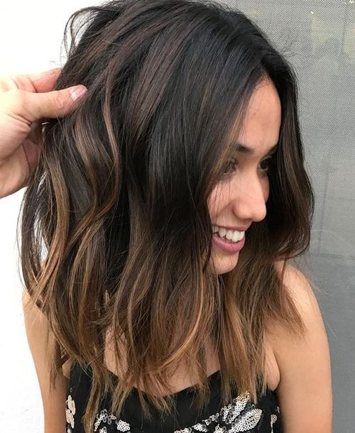 Top 11 Hottest Medium Length Styles Perfect For Thin Hair Pics Bucket Balayage Hair Hair Styles Hair Color Balayage