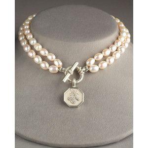 Slane Jewelry Double-Strand Pearl Necklace, ...