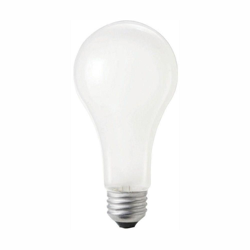 100 Watt A21 Shatter Resistant Dimmable Frosted Incandescent 120 130 Volt Rough Service Light Bulb Soft White 60 Pack Light Bulb Light Bulb Bases Bulb