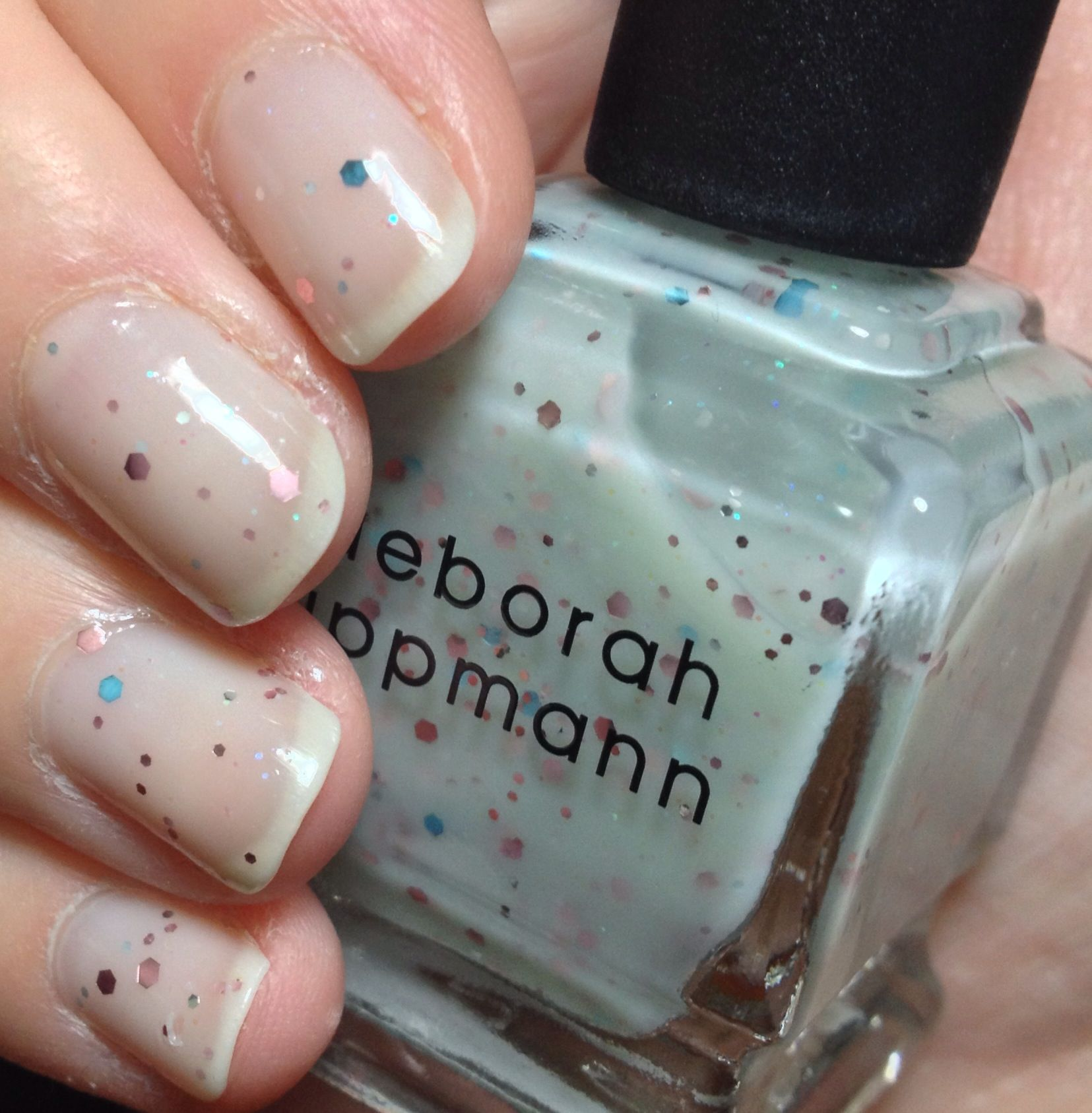 notd featuring @Deborah lippmann in #GlitterInTheAir - 3 coats ...