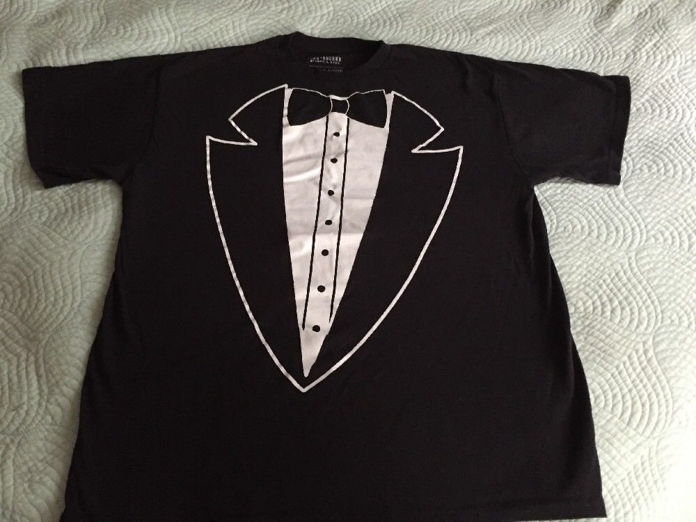 Urban Pipeline Tuxedo T Shirt Men's Size XL Black White