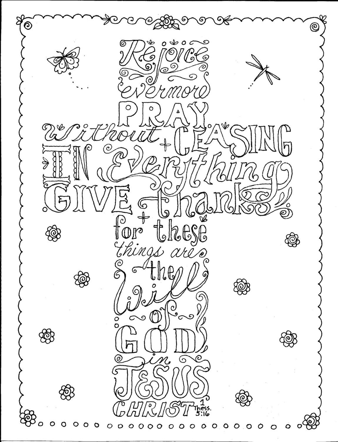 Coloring pages for adults crosses - Instant Download Scripture Cross You Color And Create Then Frame