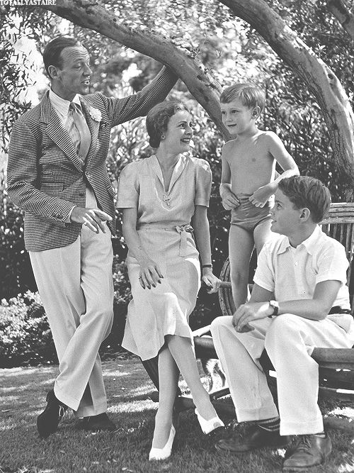 Fred Astaire with Phyllis, Freddie Jr  and Peter, Phyllis' first son