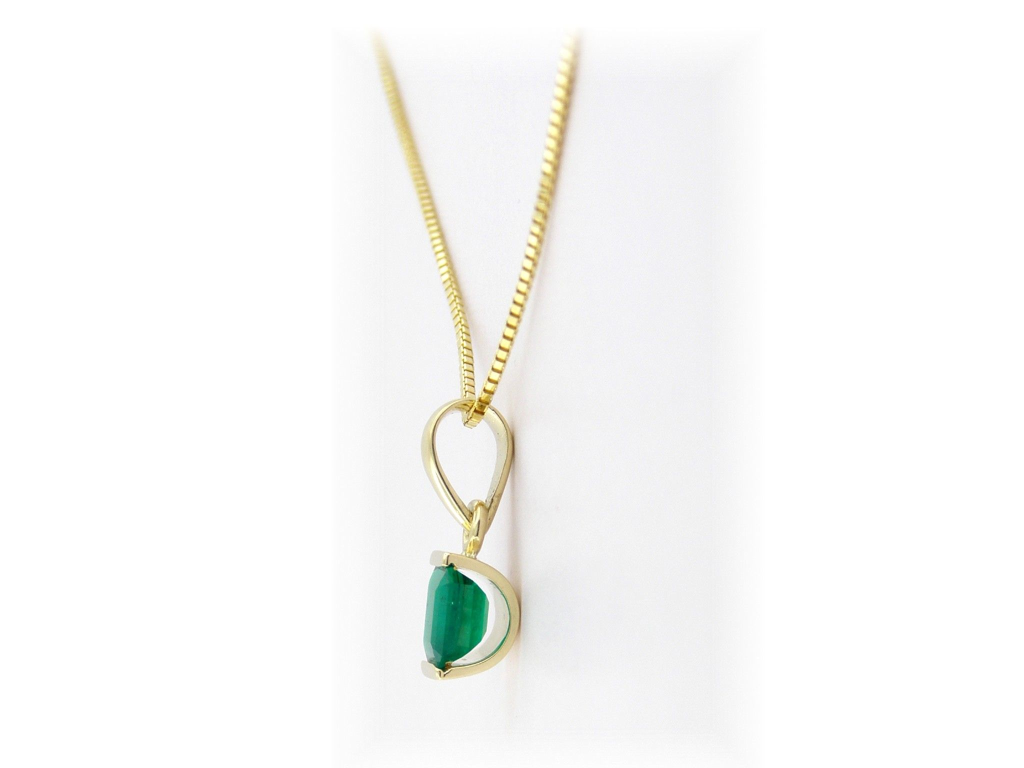 emerald plated yellow cns natural products necklace pendant women gold deals chain
