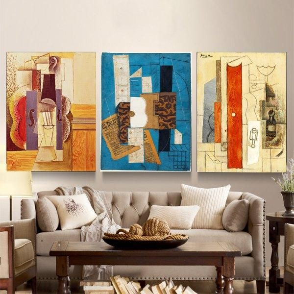 RoseWholesale - #Rosewholesale Colourful Abstract Frameless Triple