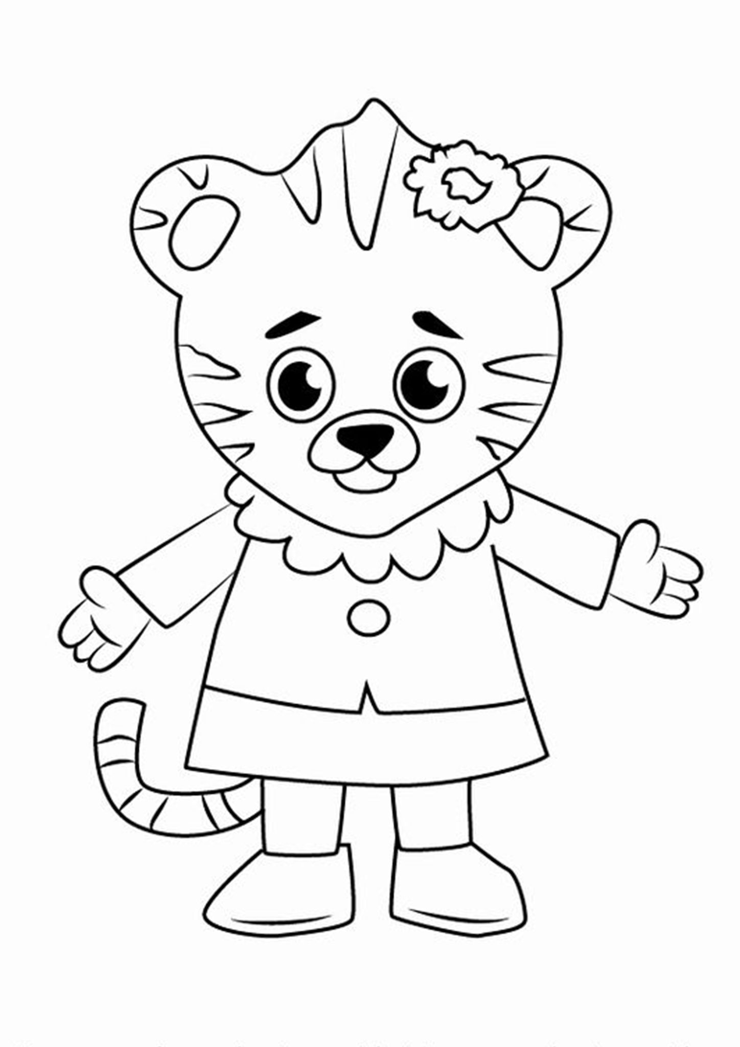 Free Easy To Print Tiger Coloring Pages In 2020 With Images Daniel Tiger Coloring Books Dinosaur Coloring Pages