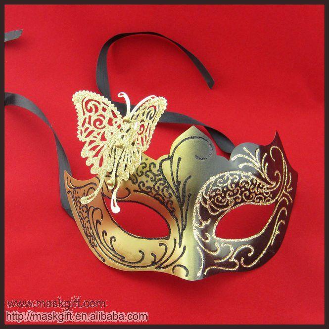 Masque v nitien papillon or et noir masks pinterest - Masque papillon carnaval ...