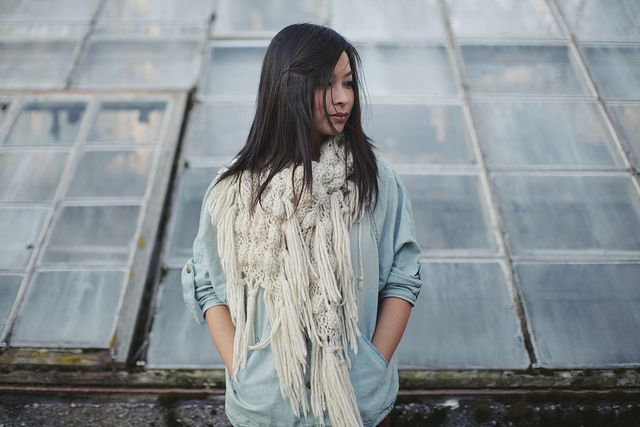 The beautiful Jennifer Young from I ART U. and yes, that scarf! Photo by Ben Blood