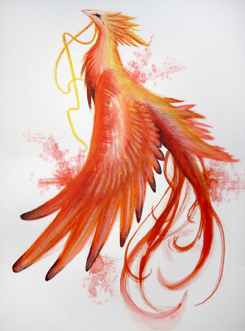 Phoenix By Syyskyy On Deviantart Phoenix Tattoo Phoenix Bird Tattoos Phoenix Tattoo Design