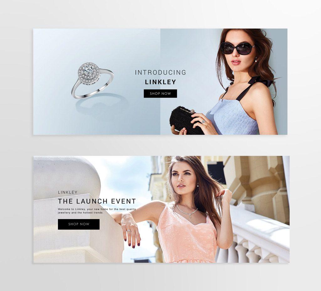 Banner design for e commerce - Jewellery And Watch E Commerce Banner Design By Martha Williams Graphic Design
