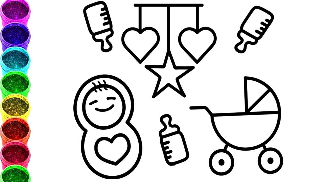 how to draw baby heart star toys coloring pages learn