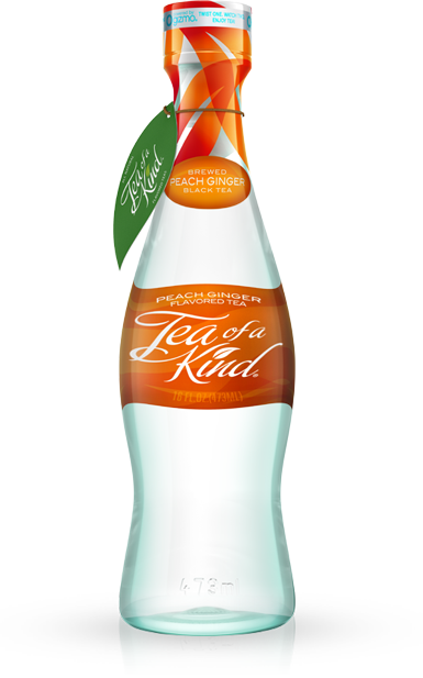 Tea of a Kind | Peach Ginger Black Tea BPA Free All Natural 20 Calories per bottle 400+ Antioxidants