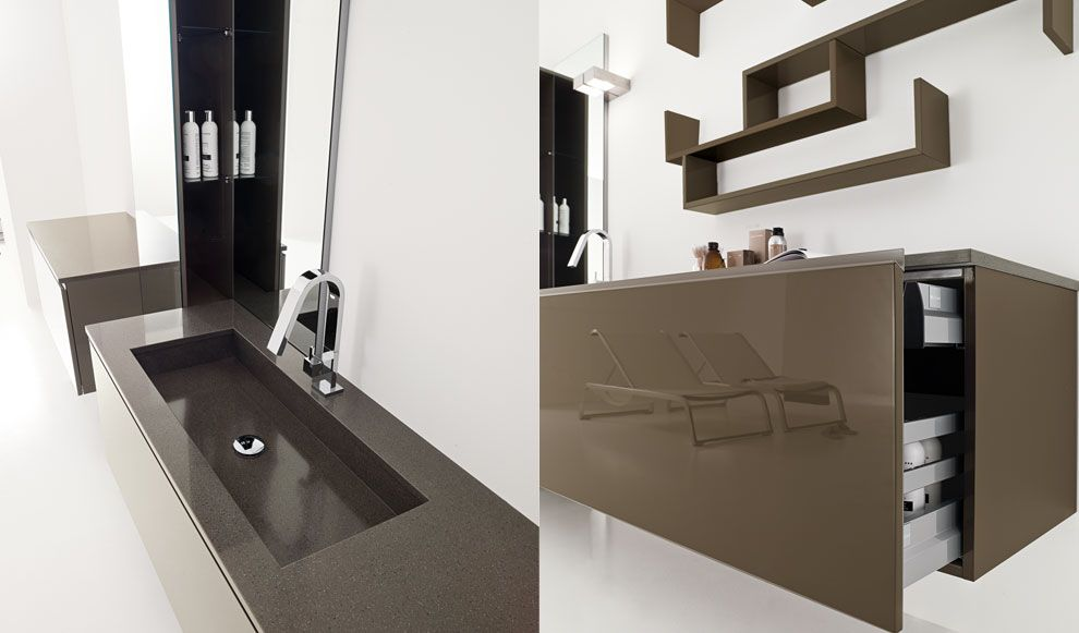 Mobili bagno sospesi dalle linee morbide ed eleganti - Mobili bagno eleganti ...