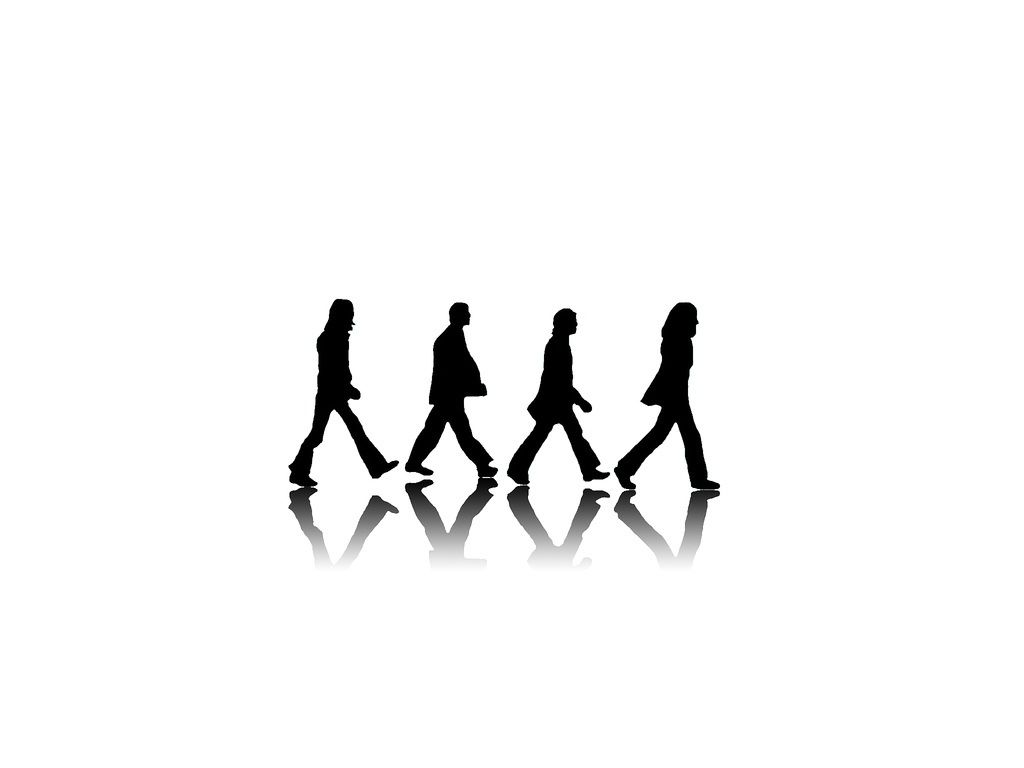 Abbey Road Black And White The Beatles Hd Wallpapers 1024x768