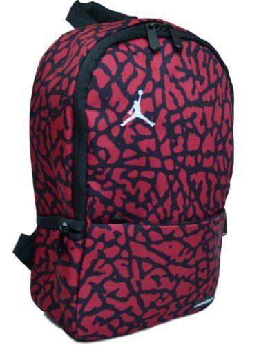 aea7ccea01 Nike Air Jordan Small Backpack for Toddler Preschool Boy or Girl in Black  and Red 7A1538-681  Nike  Jordan  Backpack  Jumpman  OrlandoTrend   Basketball
