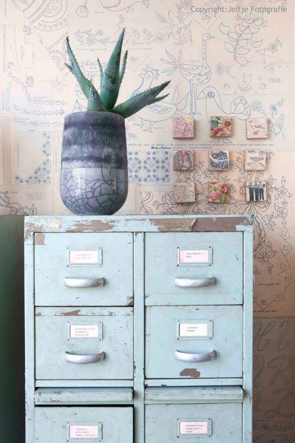 Unique Light Blue Filing Cabinet