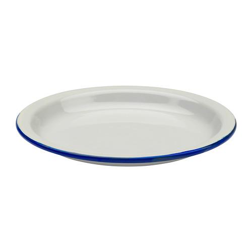 Ikea Usa All Products: EGENDOM Plate - Light Gray, Dark Blue