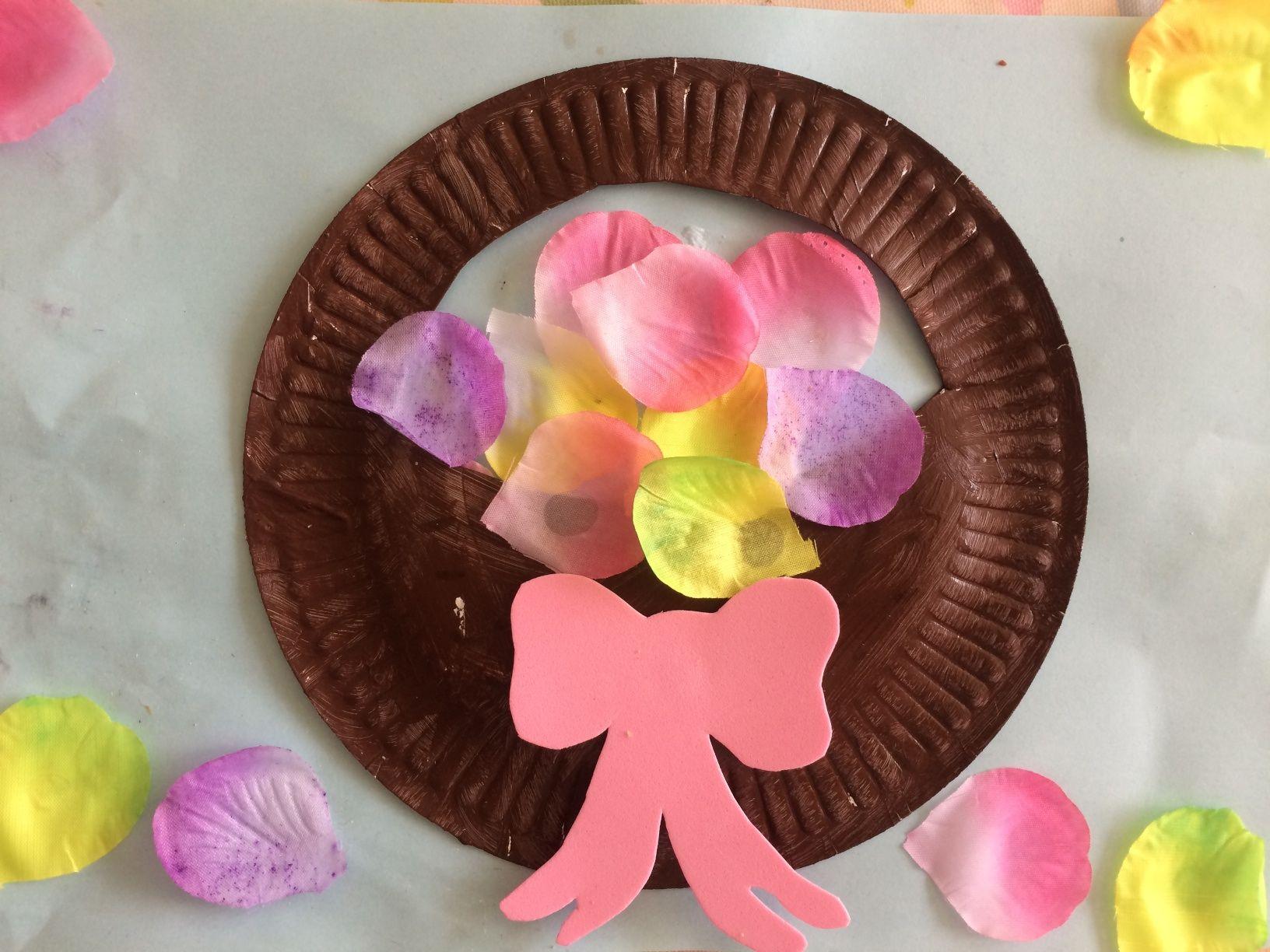 Paper plate flower basket treading on lego work pinterest paper plate flower basket treading on lego mightylinksfo