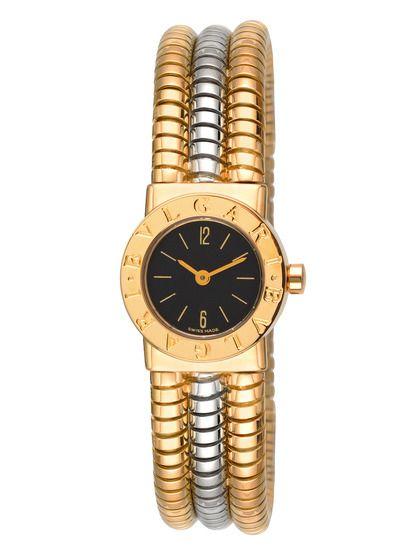 Bulgari 18K Yellow Gold & 18K White Gold Cuff Watch by Bulgari at Gilt