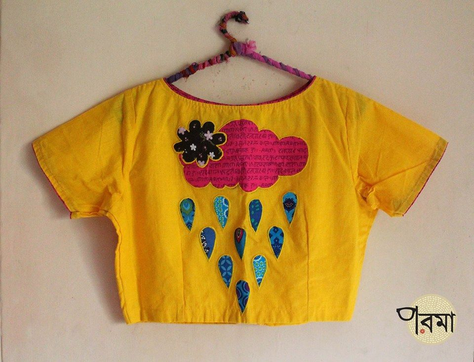 You Will Fall In Love With Parama S Blouse Collections From Kolkata Embroidery Blouse Designs Cotton Blouse Design Trendy Blouse Designs