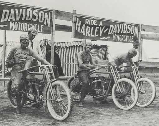 Harley Davidson Racing Team 1914 Dodge City Vintage Flattrack