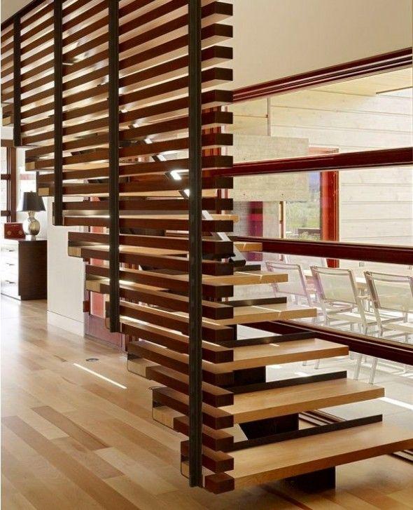Modern Wooden Staircase Design 1 590×727 Pixels
