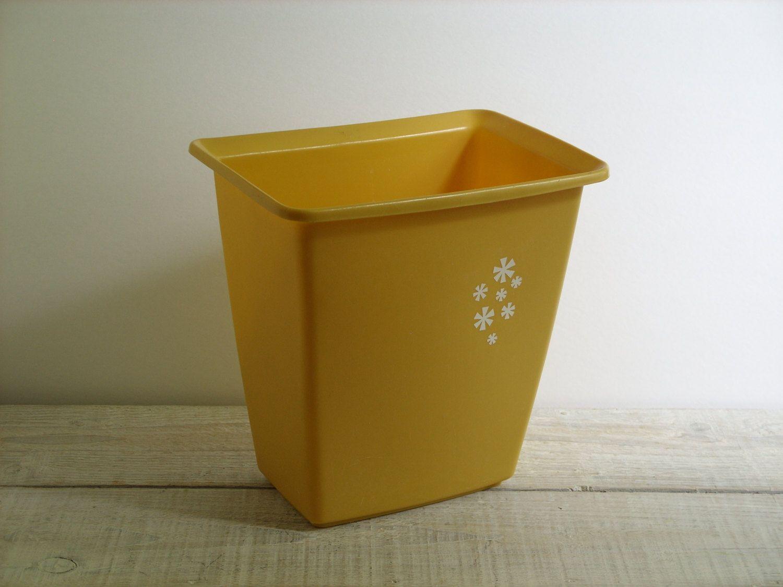 Small Bathroom Garbage Cans vintage rubbermaid wastebasket ~ small bathroom garbage can ~ 70s