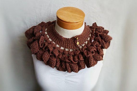 Rüschen-Kragen Crochet Kappe Schal Herbst von 910woolgathering