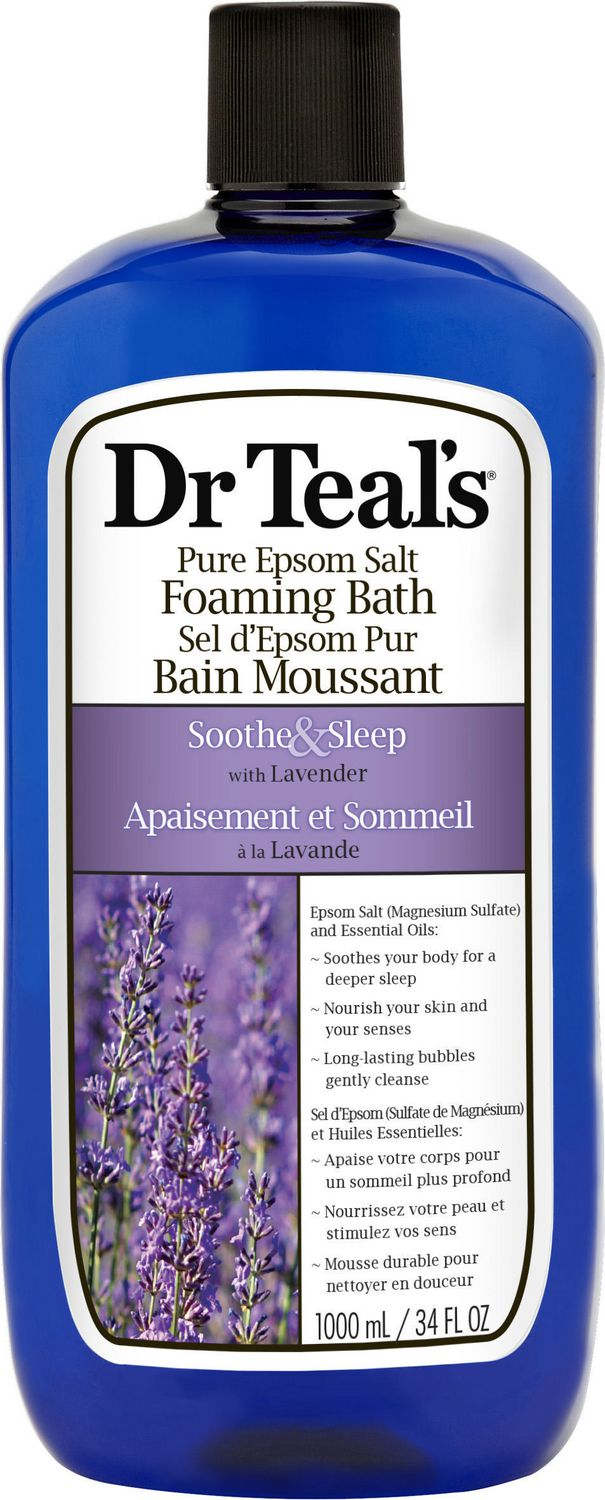 Dr. Teal's Pure Epsom Salt Lavender Foaming Bath Walmart
