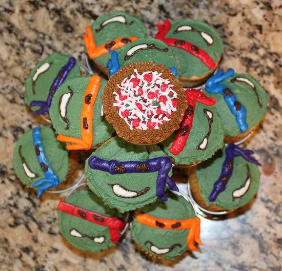 teenage mutant ninja turtle cupcakes | Cupcakes / Teenage Mutant Ninja Turtle Cake and Cupcakes by booturtle ...