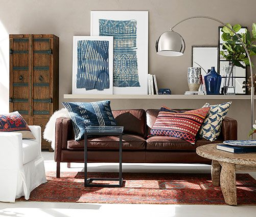 Pottery Barn Living Room With Carpet And Decorative Plant: How To Measure For Tour New Furniture