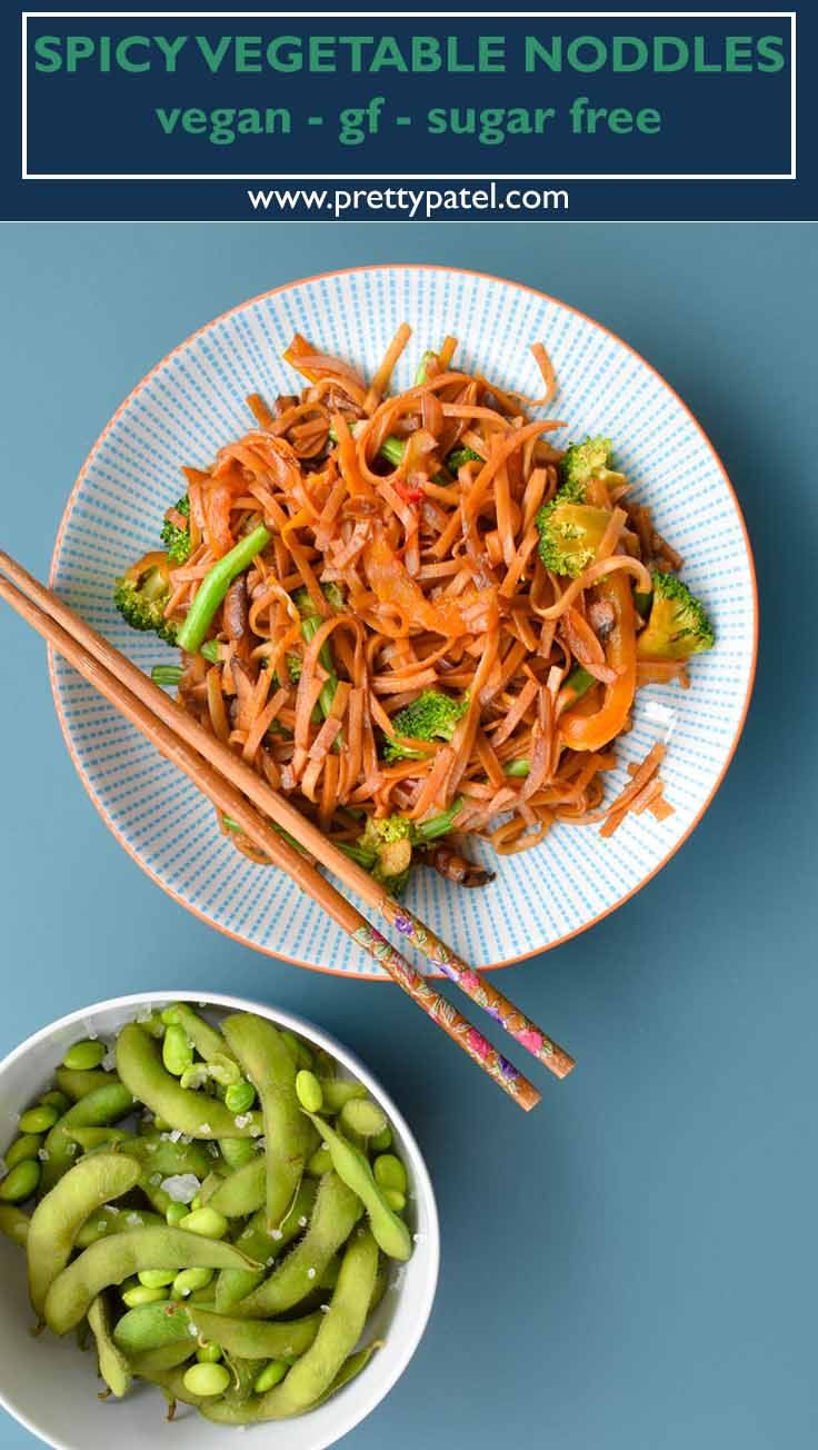Healthy Spicy Vegetable Noodles Recipe With Images Spicy Recipes
