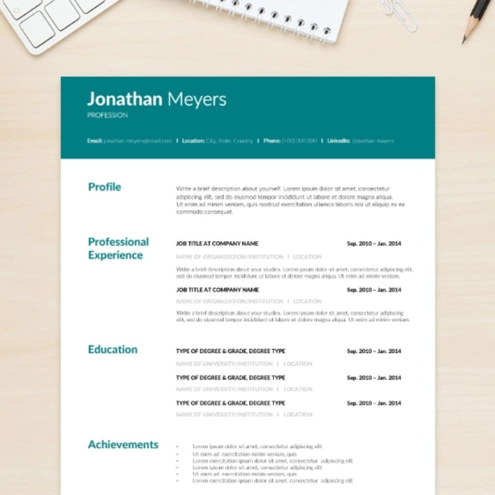 United Cv Resume Template Executive Download Cv Template Cv Resume Template Templates