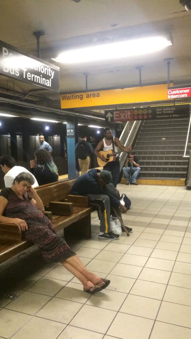 Life, 4 different views, Manhattan, NY. Subway .