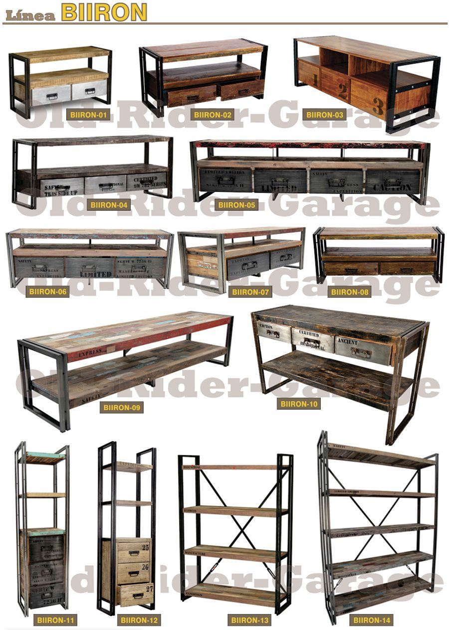 Old rider muebles vintage muebles for Muebles industriales antiguos