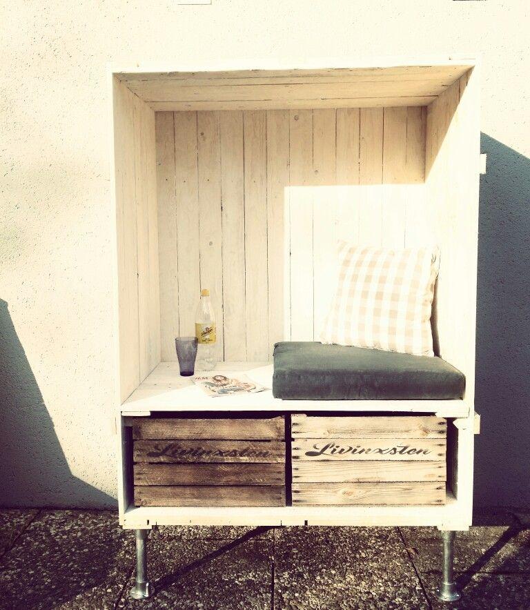 Inspirational  Shabby Strandkorb obstkiste loft industrial beach livinxsten
