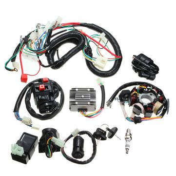 125cc 150cc 200cc 250cc quad electric cdi coil wire harness stator rh pinterest com Wiring Harness Terminals and Connectors Truck Wiring Harness