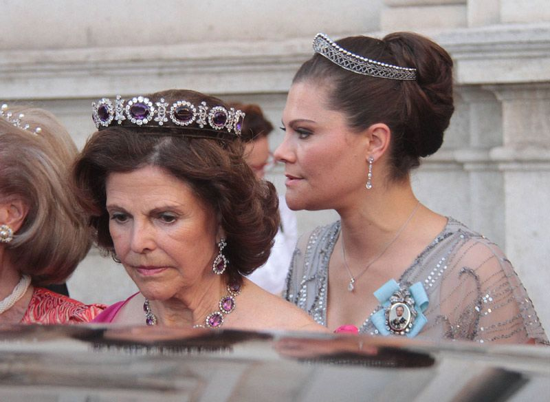 King Carl Gustaf, Queen Silvia and Crown Princess Victoria attended the wedding of Astrid Bernadotte and italian aristocrat Filippo Bruti Liberati in Florence July 2017