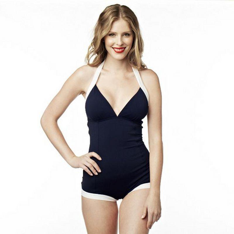028a75e357 Stella Del Mare® 1-Piece Halter-Neck Swimsuit - Sears