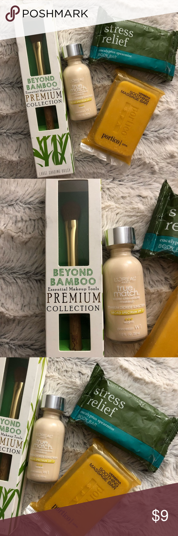 NEW L'Oréal truematch W1 & Bamboo Brush & Soaps NWT