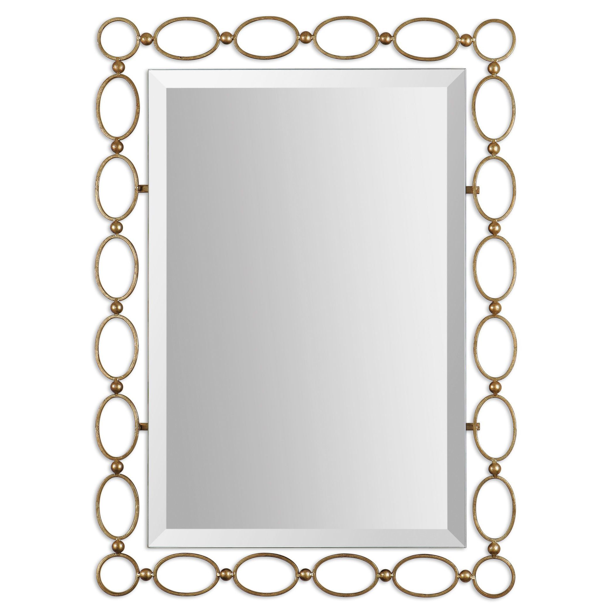 Uttermost ulauriau light antiqued gold leaf mirror by uttermost