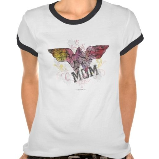 Wonder Mom Mixed Media Shirt   = $25.95   Style: Ladies Ringer T-Shirt