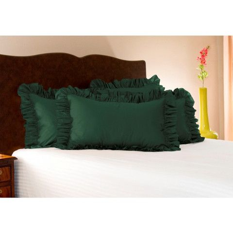 Harmony Lane Poly Cotton Solid Ruffled Pillow Sham