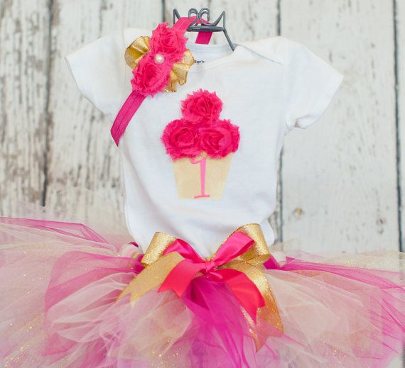 Baby Girls First Birthday Outfit3 Piece by OneLovelyLittleLady