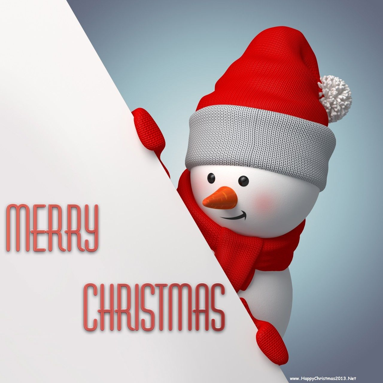 Merry Christmas 2013 Cute Snowman Wallpapers and Banners